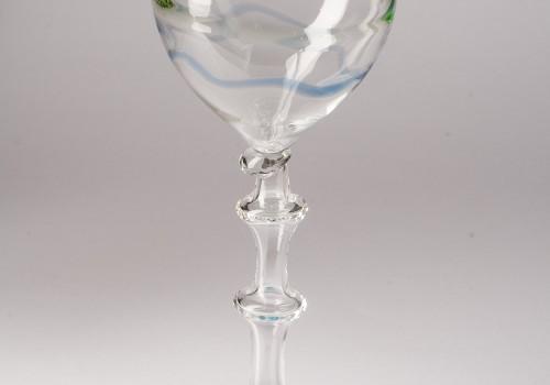 Gran copón de vidrio soplado